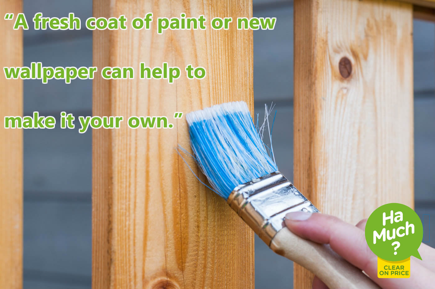 A fresh coat of paint or new wallpaper can help to make it your own