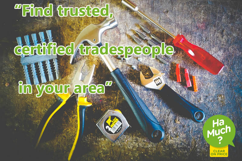 Find trusted certified tradespeople in your area