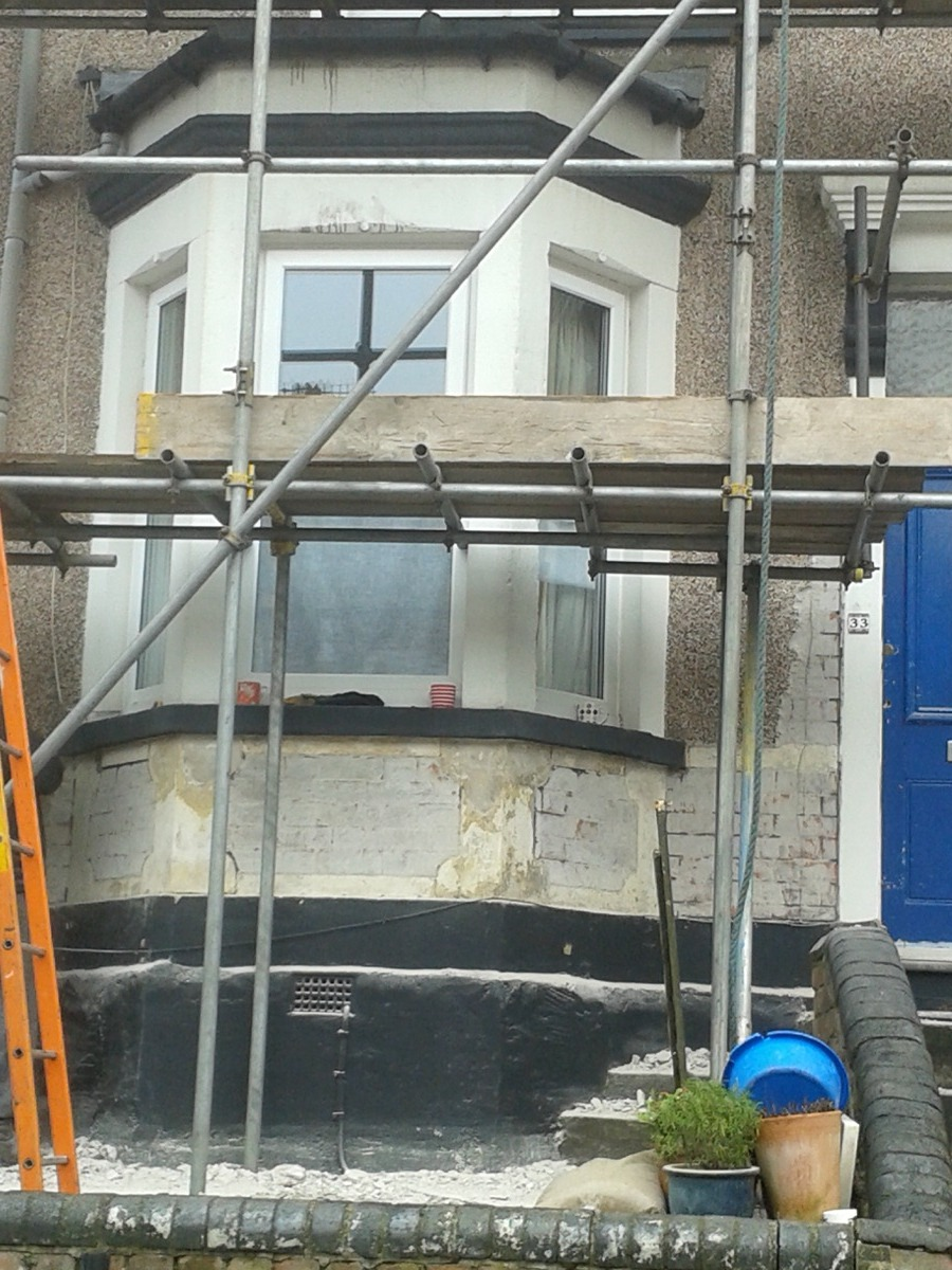 Restoring house exterior, sparring to...