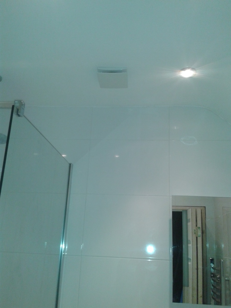 Extractor fan and recessed downlighters