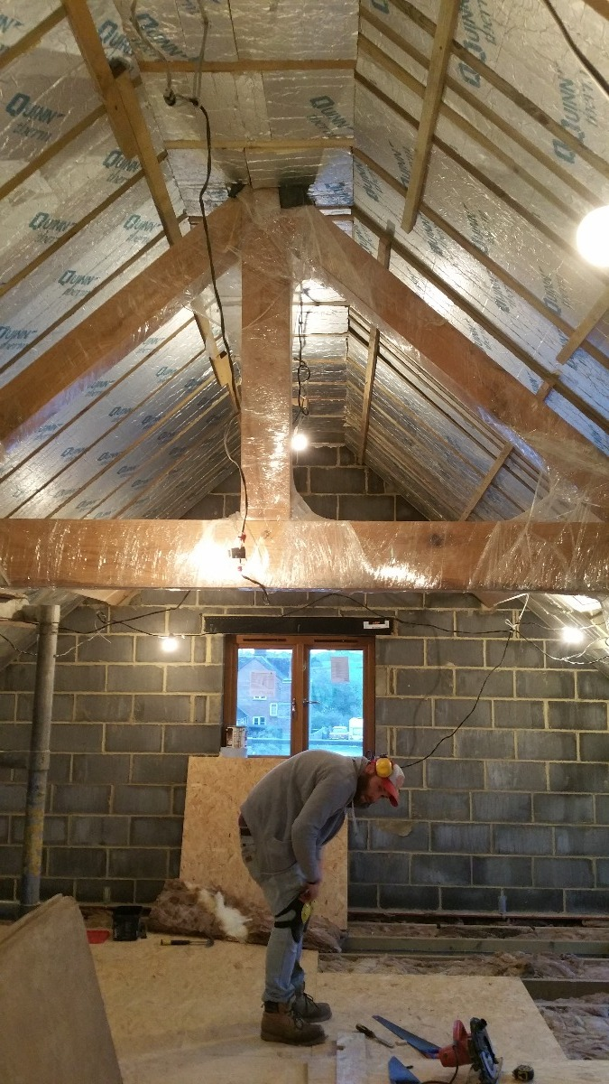 New oak truss