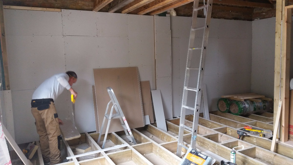 insulating walls and floors to building control requirments
