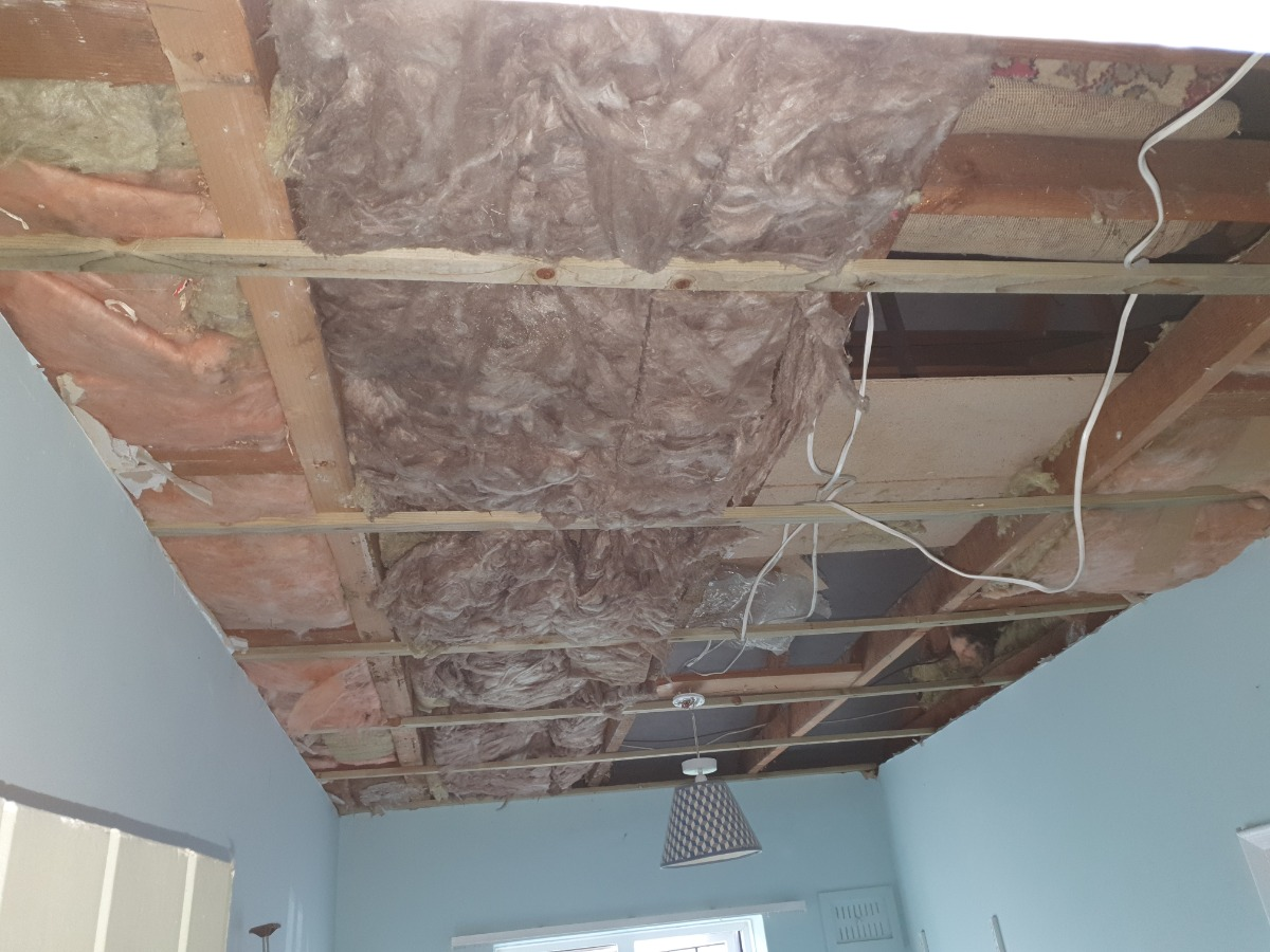 Water damage cieling