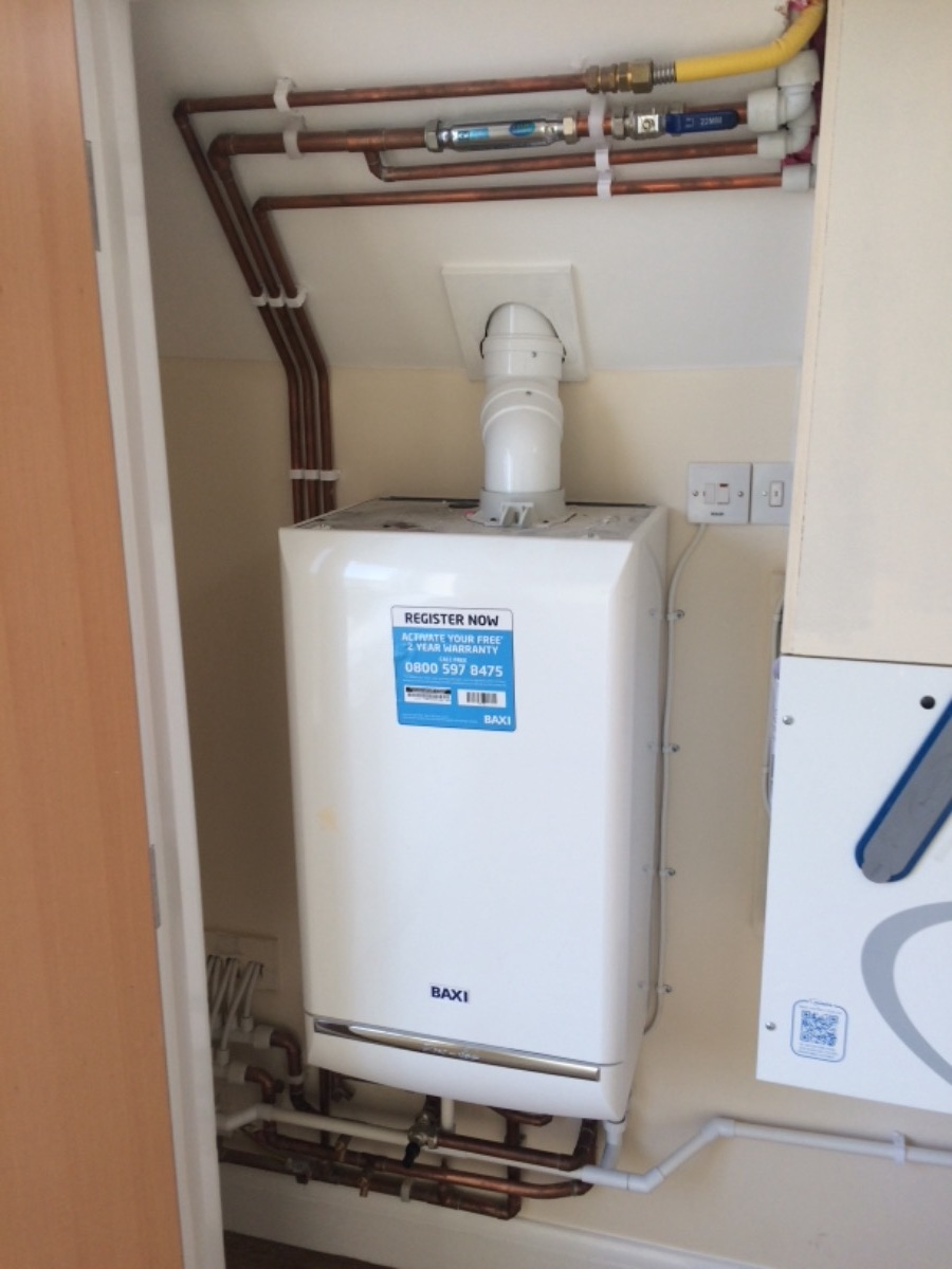A new boiler installation moved from the loft to the bedroom as requested from the customer no before pictures unfortunately