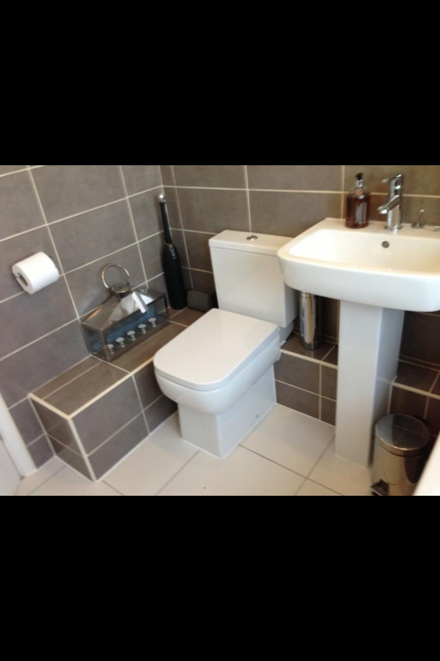 A brand new bathroom installation after all the trades where done