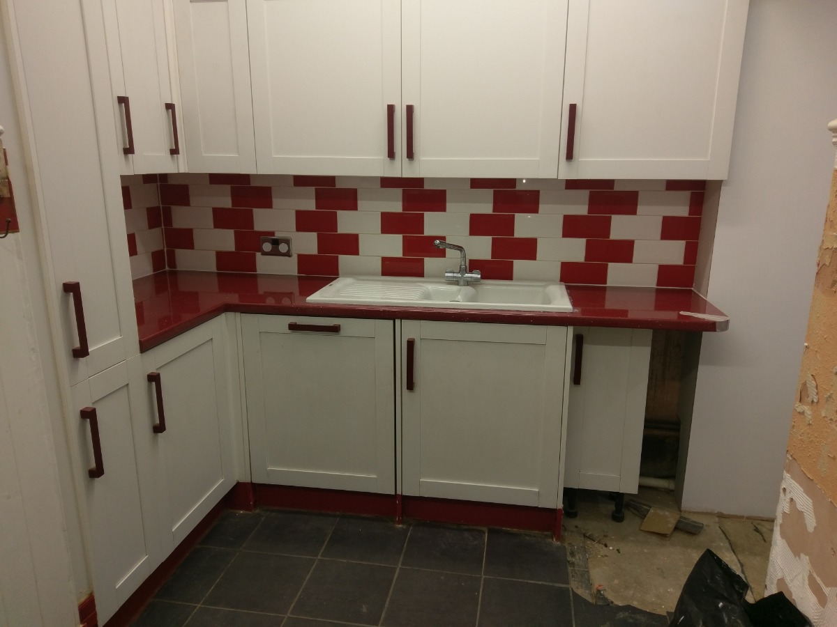 New worktops installation