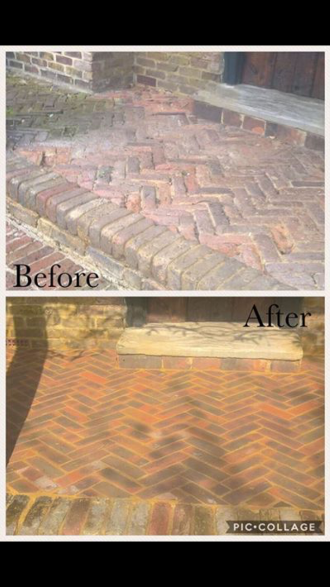 New brick paths
