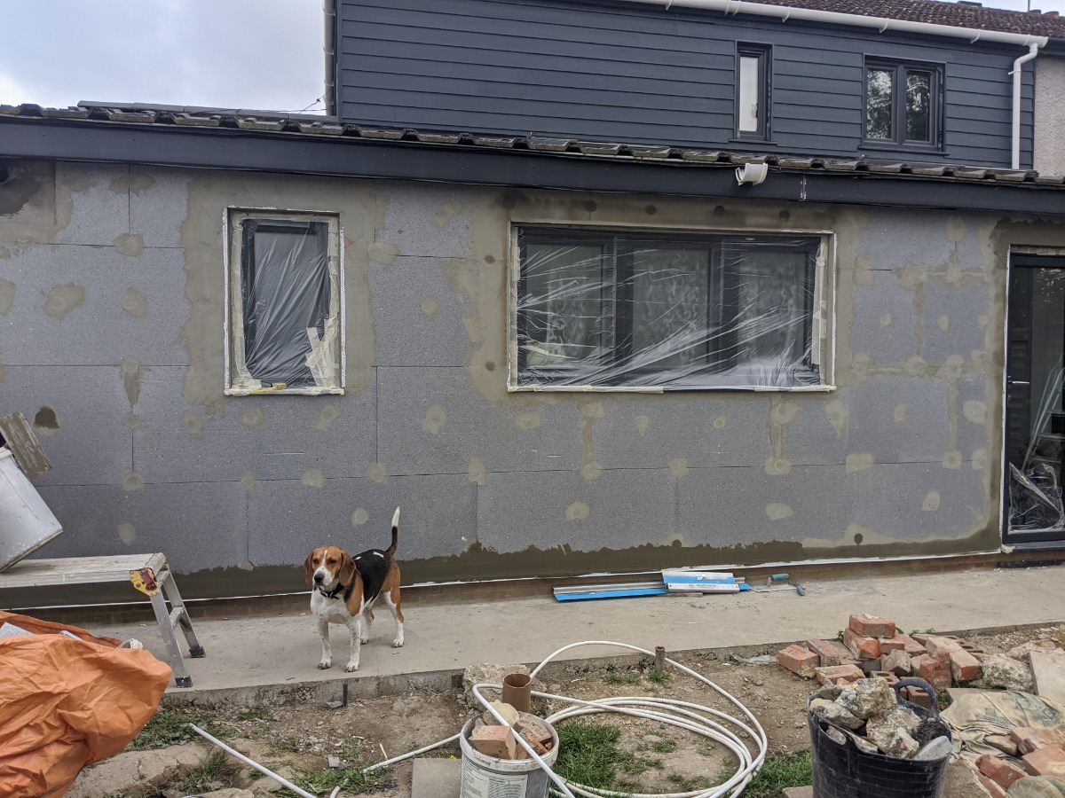 Cladding and insulated render