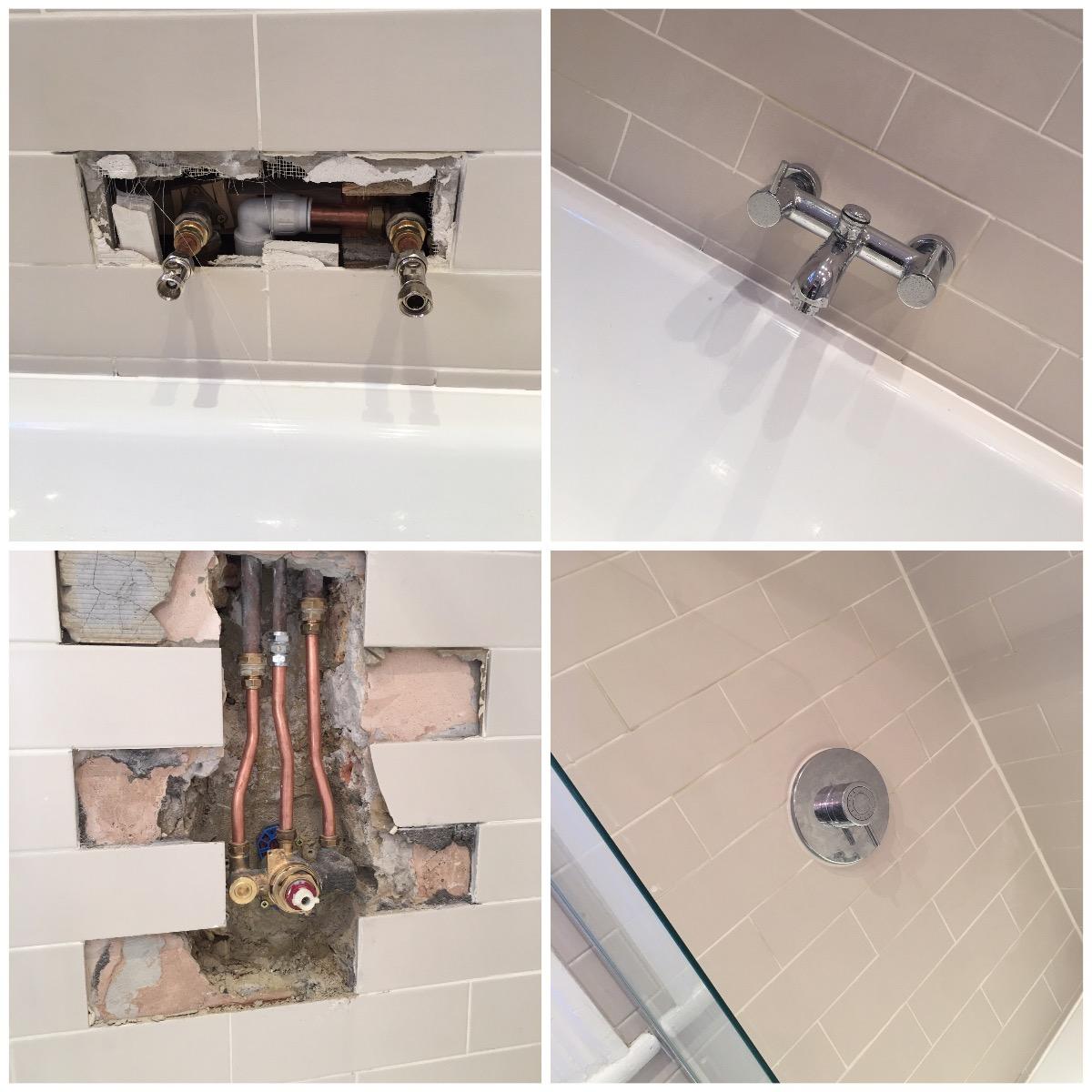 New bathroom appliances installation