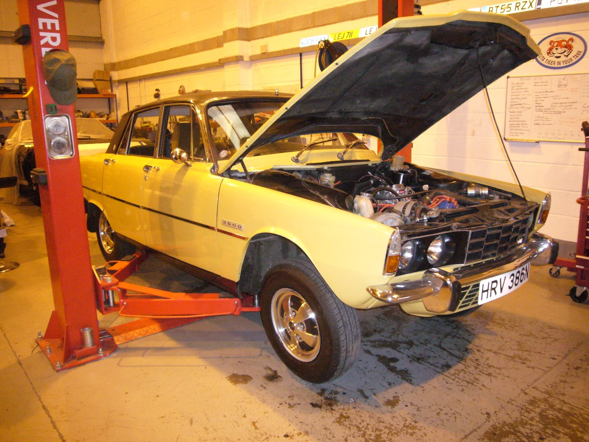 Rover P6 Gearbox swap, auto to manual