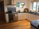 Kitchen with new solid oak flooring